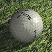 Jugando al golf con Dani