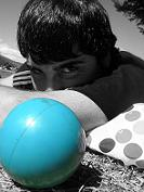 Una pelota Azúl